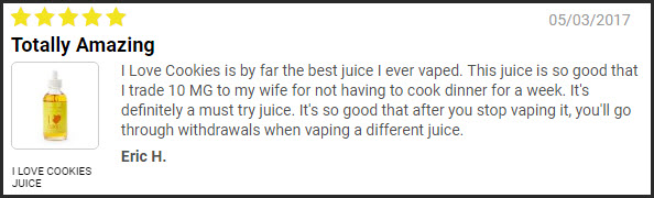 i love cookies juice review
