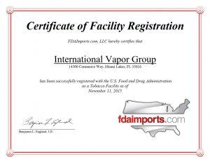 VaporFi-FDA-Certificate